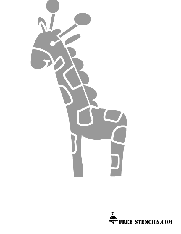 picture relating to Printable Animal Stencils named lovely printable giraffe stencil Free of charge Printable Stencils