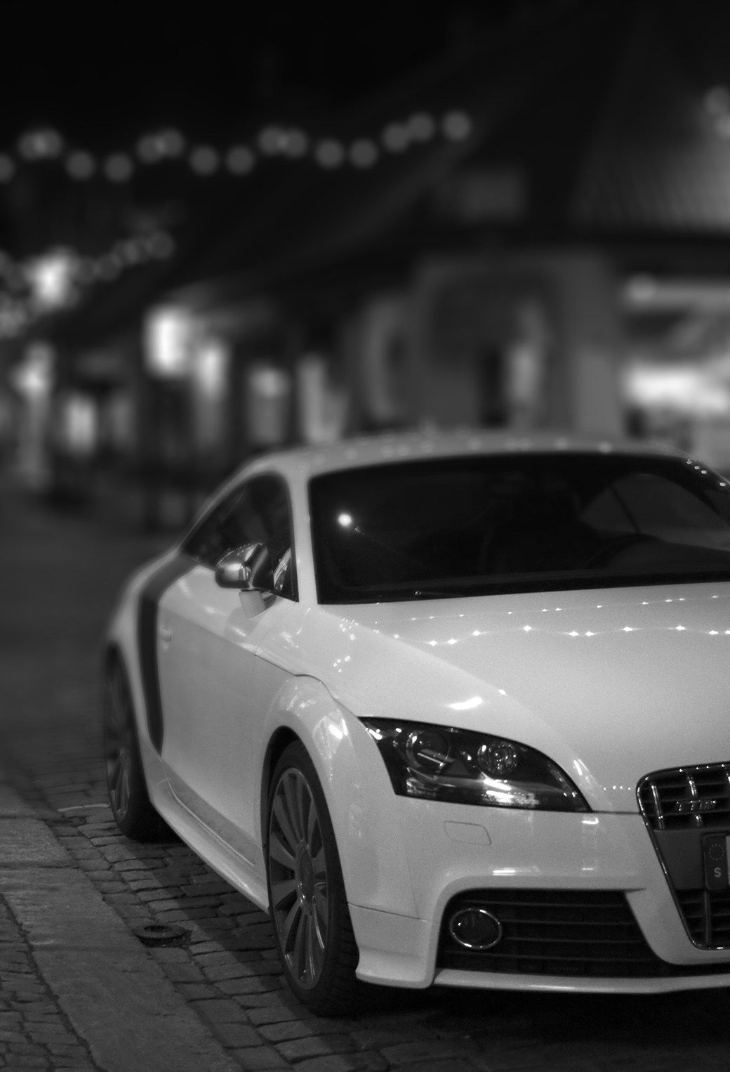 White Audi TTRS Coupe in warehouse Audi Exchange Audi