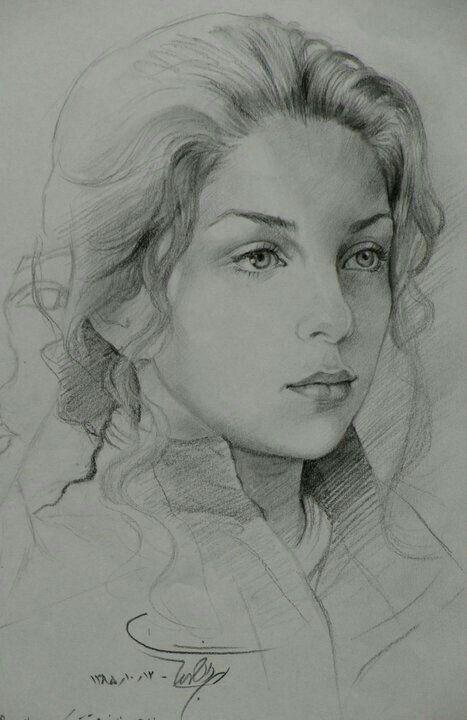 Lukisan Pensil Lukisan Lukisan Wajah Drawing