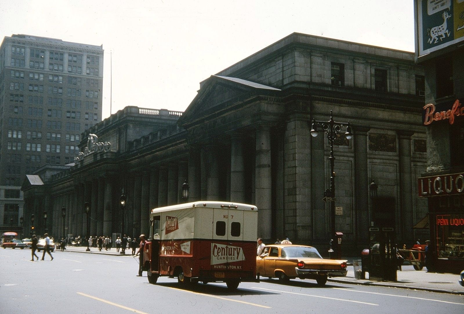 Century Candy Delivery Truck And Pennsylvania Station 1962