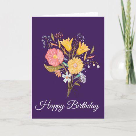 Birthday Card With Cute Girl With Cake A Premium Vector Freepik Vector Birthday Card Fa Happy Birthday Art Happy Birthday Cards Birthday Wishes Cards