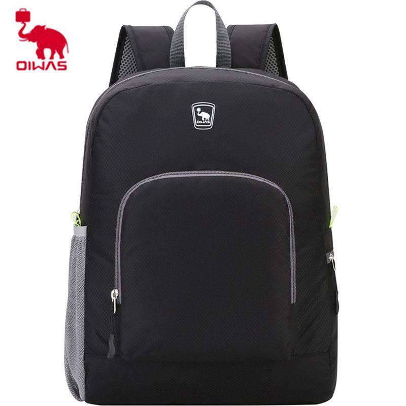 b34885e9c2 Oiwas Ultra-light Portable Backpack Foldable Rainproof Anti-scratch Bag  Large Capacity Mini Bag For Travel