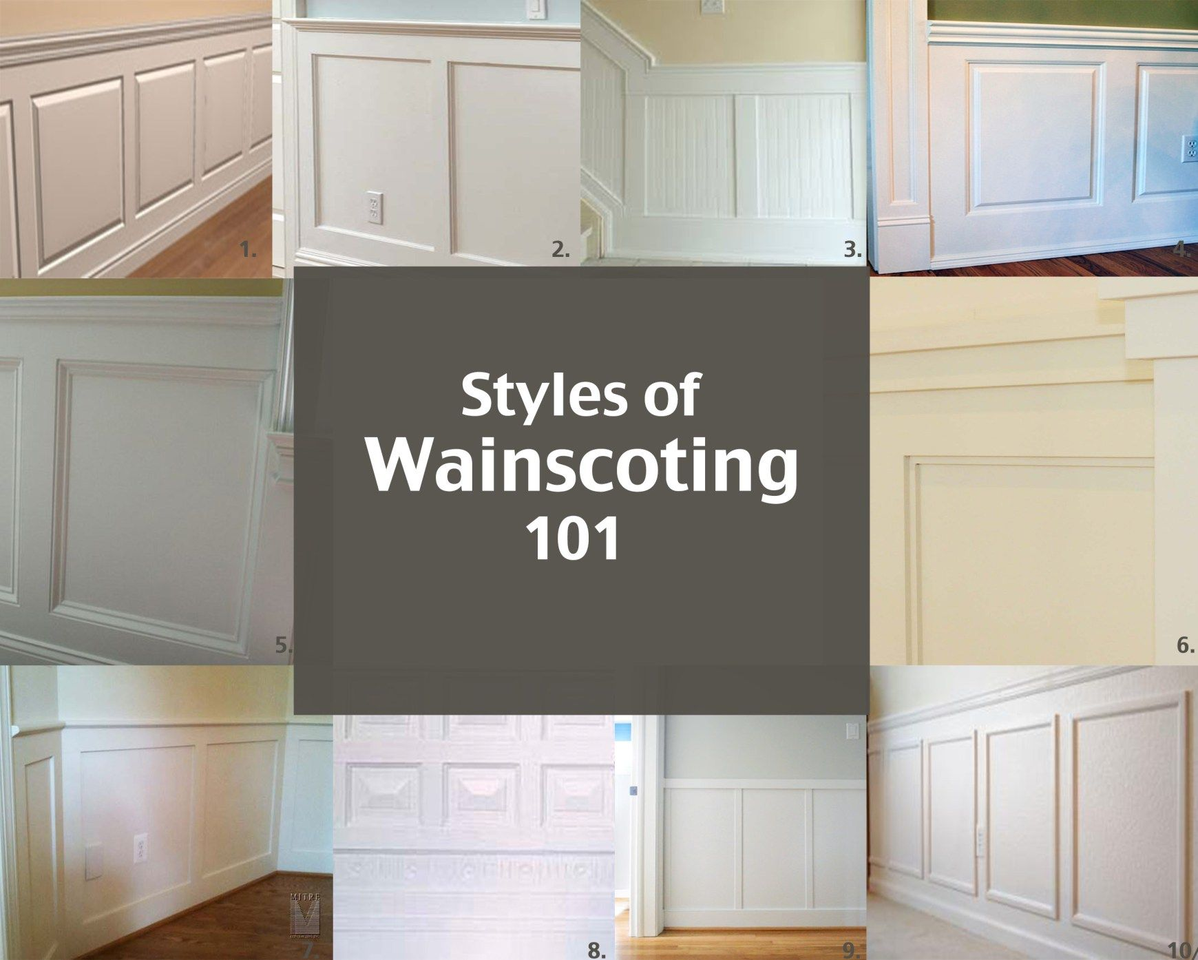 Styles Of Wainscoting #wainscoting, AccentHaus.com