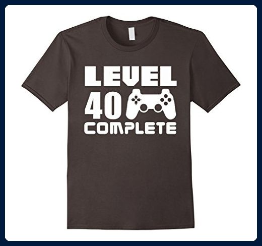 b933612e Mens 40th Birthday T Shirt Level 40 Complete Funny Video Gamer Small  Asphalt - Gamer shirts (*Amazon Partner-Link)
