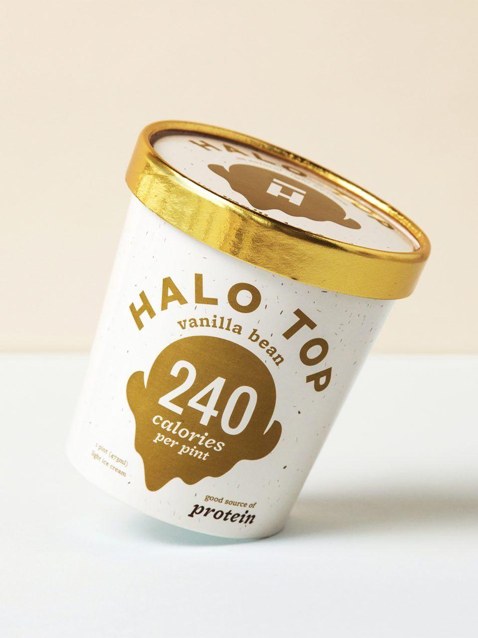 Halo top branding art direction pda ice cream