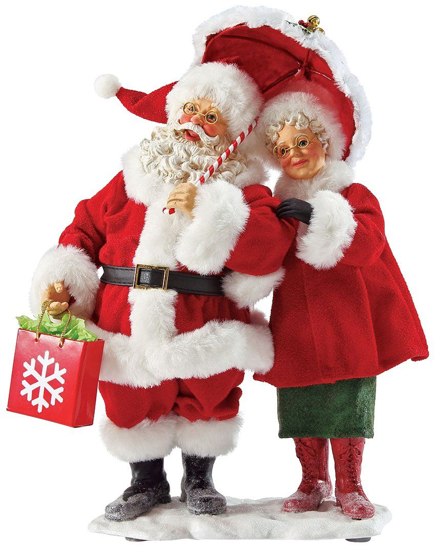 Mr and mrs claus ornaments - Department 56 Possible Dreams Let It Snow Santa And Mrs Claus