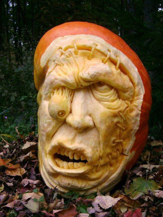 Cool 3D carved pumpkin