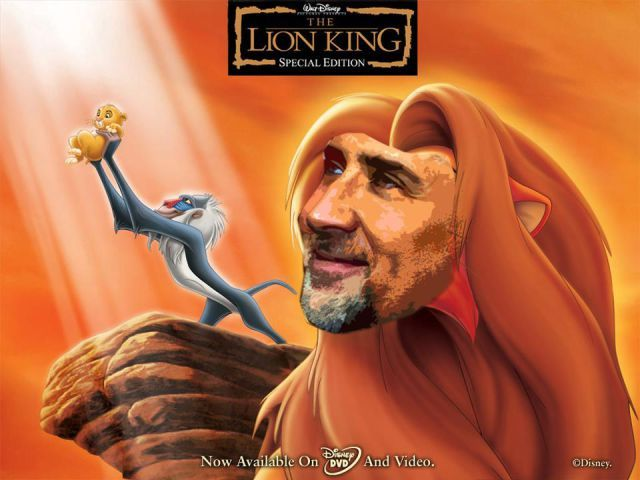 What If Nicolas Cage Was The Star Of Every Movie 22 Pics Lion King Movie Disney Characters Wallpaper Classic Disney Movies