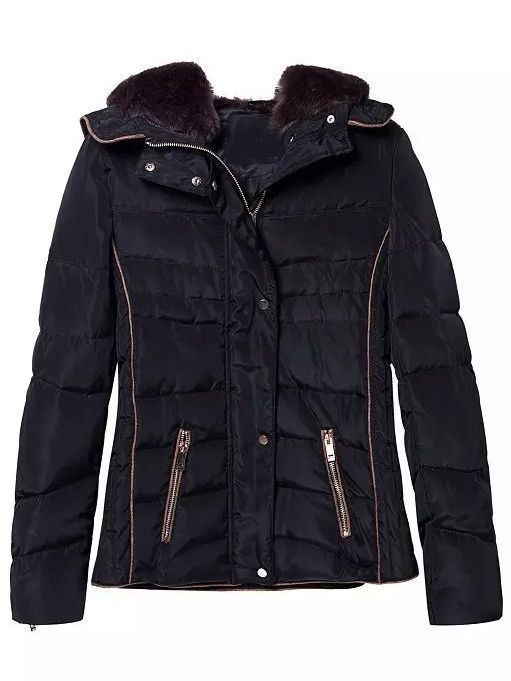 5b0cfa159a Navy Faux Fur Hooded Zipper Pockets Coat , Register SHEIN to get a FREE  GIFT!