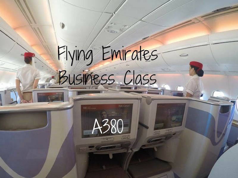 Flying Emirates Business Class on the A380 Business