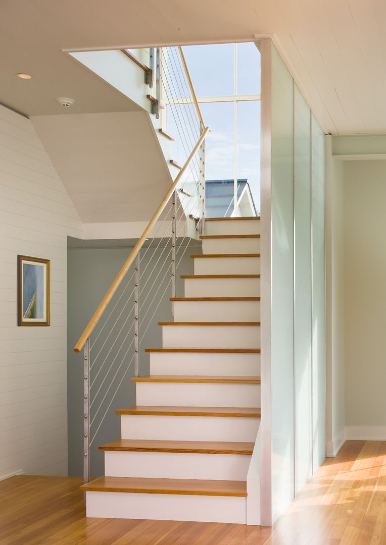 Glass Partition And Cable Rail Tiny House Stairs