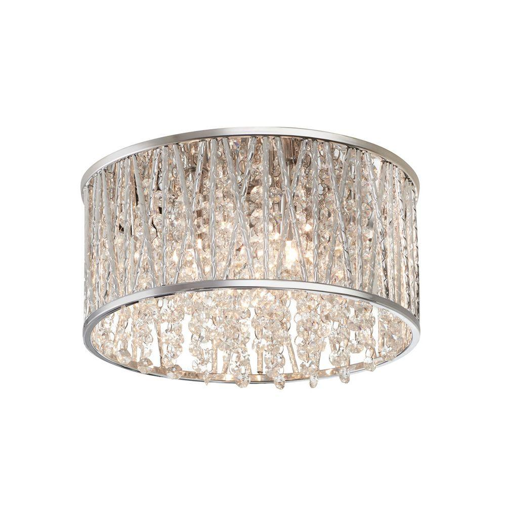 Home Decorators Collection Saynsberry 11.5 in. 3-Light ...
