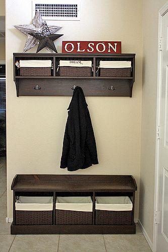 15 DIY Entryway Bench Projects Diy entryway storage