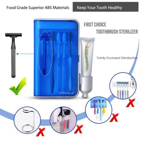toothbrush sterilizers uv sanitizer wall mounted on disinfectant spray wall holders id=13087