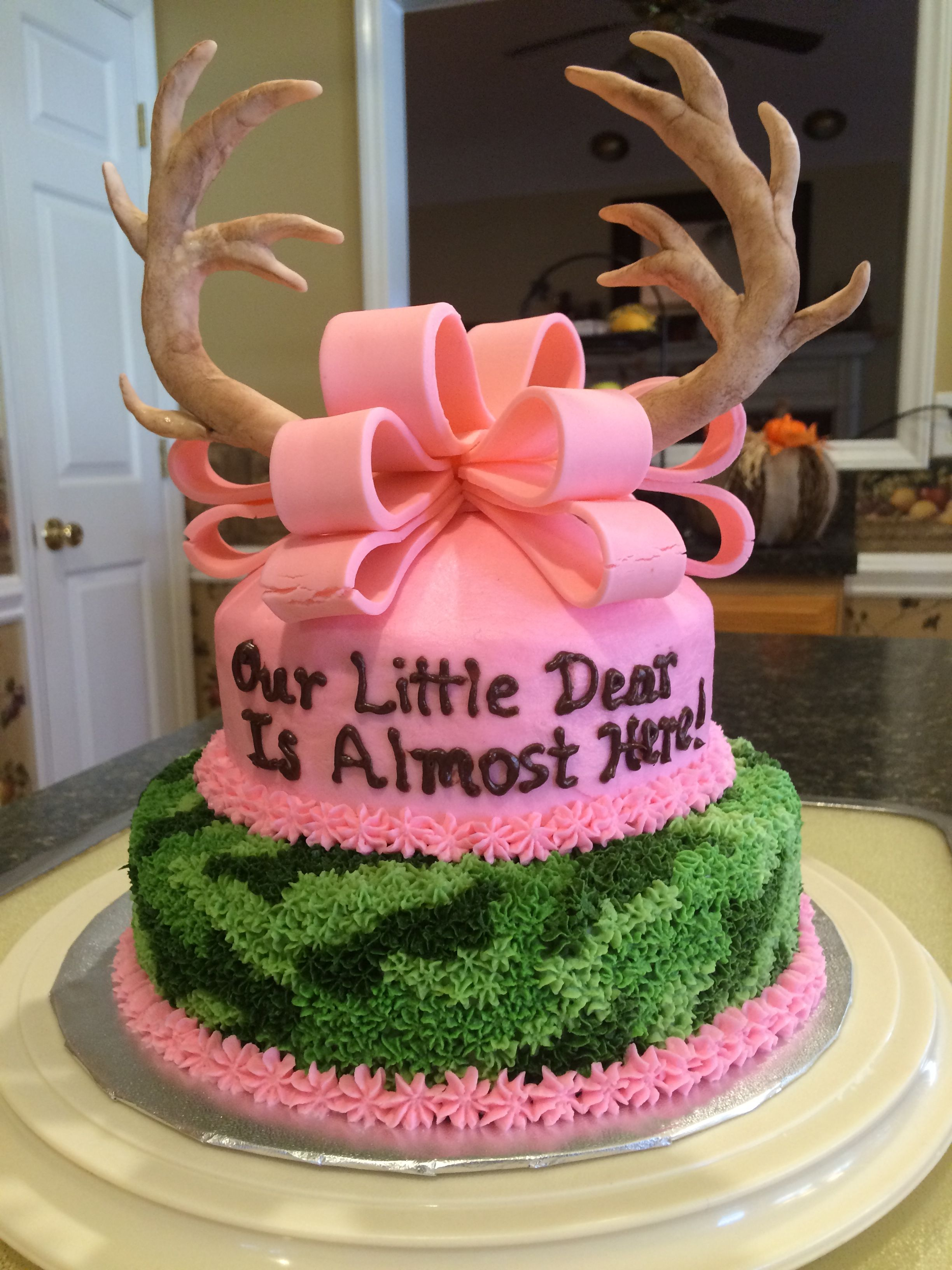 Cute Baby Shower Cake Idea Pink And Camo Fun With Images