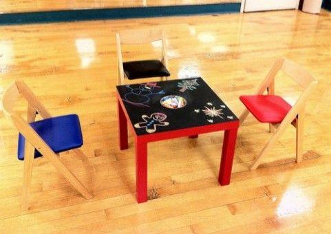 Mesa infantil ikea renovada juegos - Ikea mesas infantiles ...