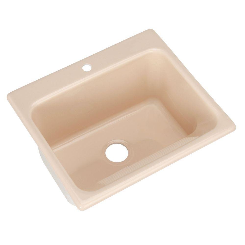 Thermocast Kensington Drop In Acrylic 25 In 1 Hole Single Bowl