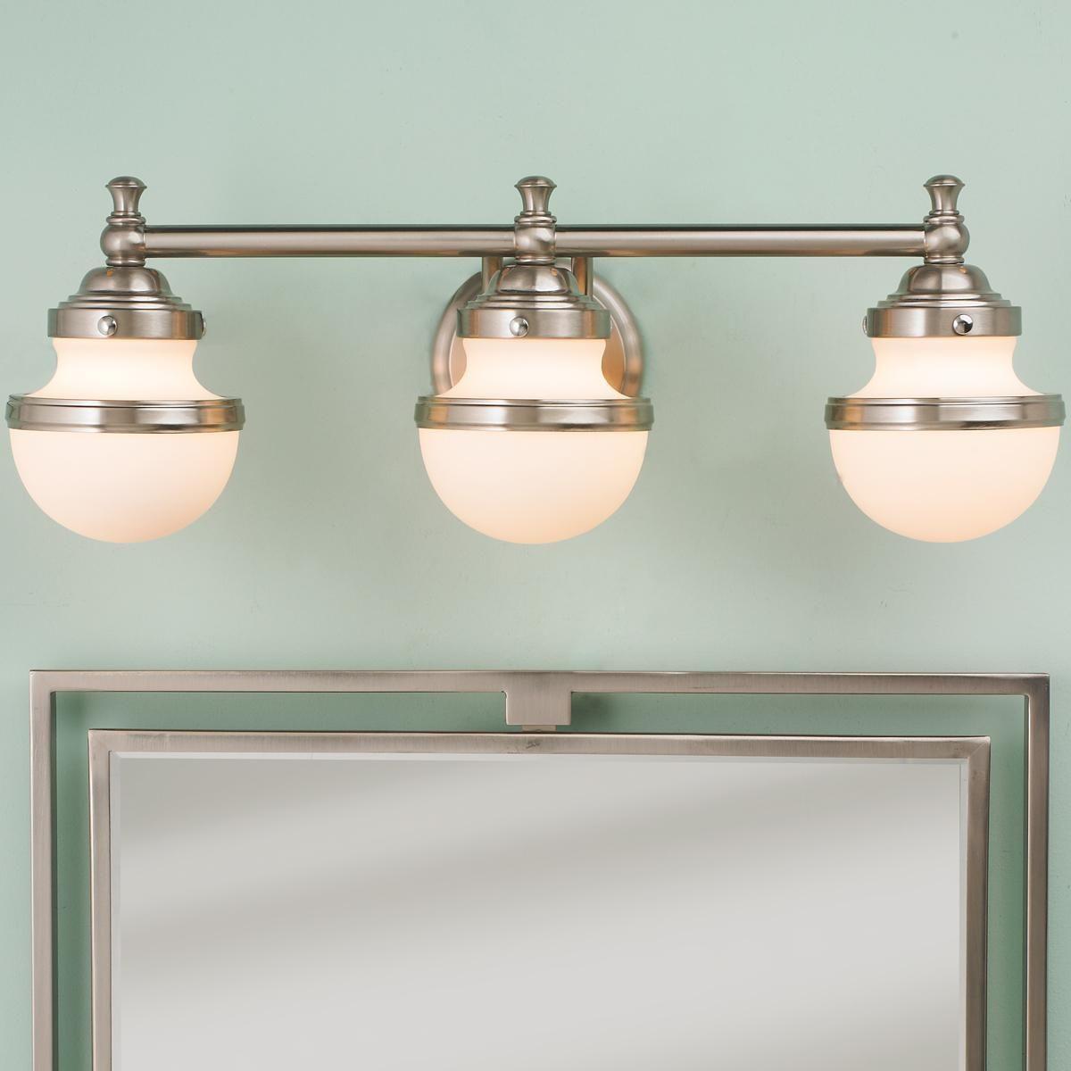 Retro Shade Bath Light 3 Light Contemporary Bathroom Lighting Modern Bathroom Lighting Vintage Bathroom Lighting