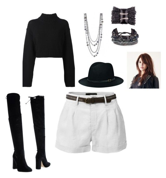 """""""MIestilo0298"""" by paolaalbo ❤ liked on Polyvore featuring DKNY, LE3NO, BeckSöndergaard, Bianca Di and Chan Luu"""