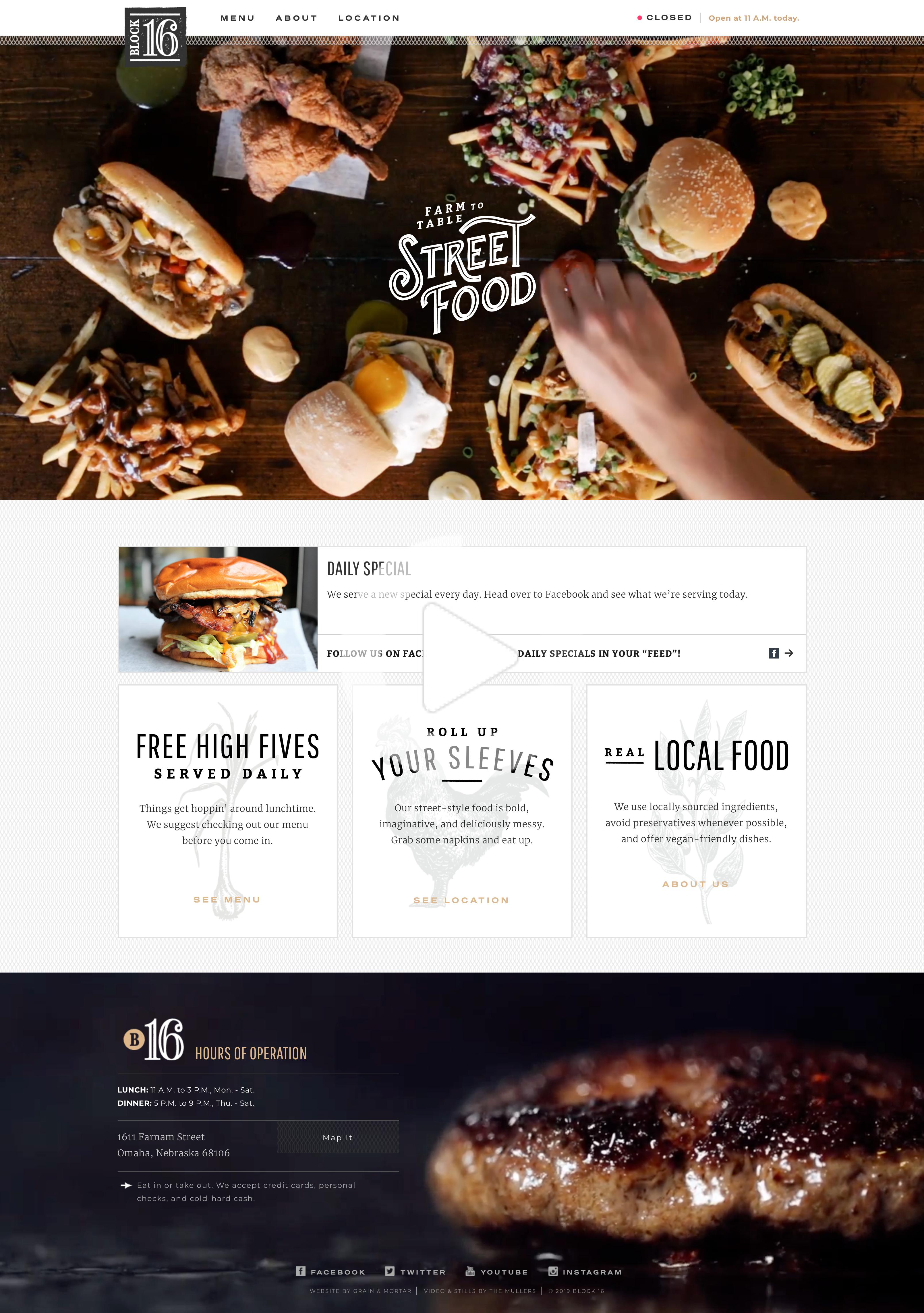 Block16omaha In 2020 Restaurant Web Web Design Ux Web Design
