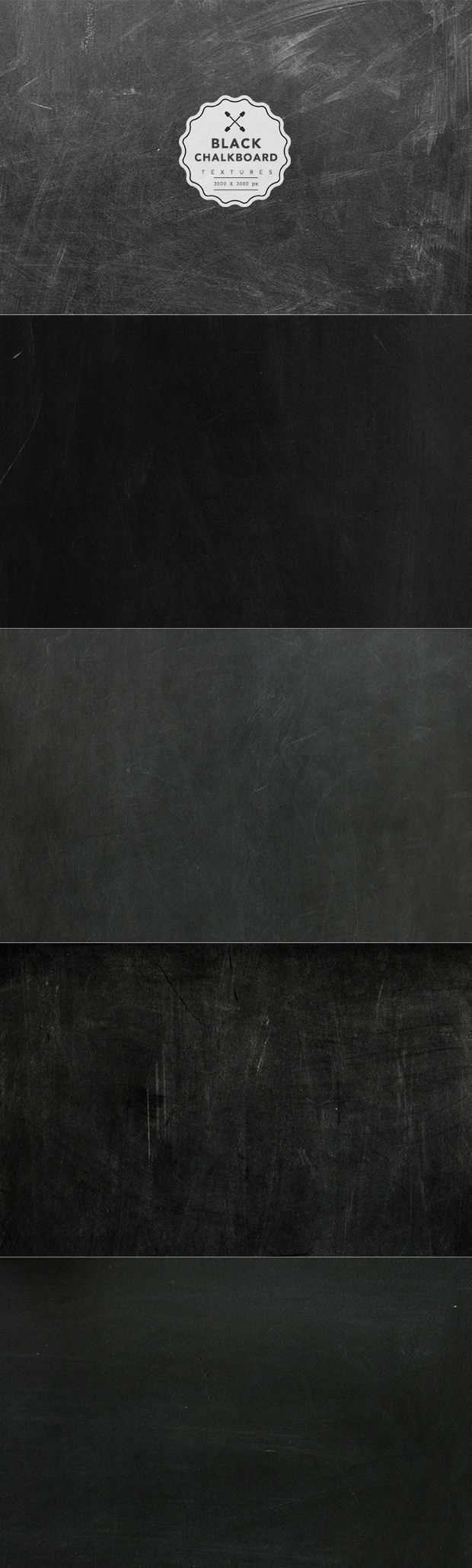 Extremely Useful Texture Black Chalkboard Set