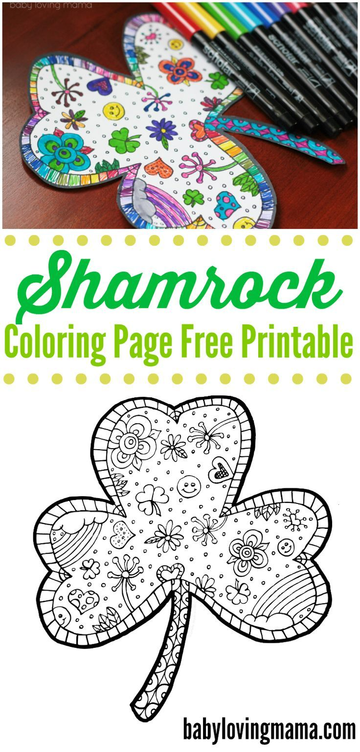 Shamrock Coloring Page Free Printable | Free printable, Storms and ...