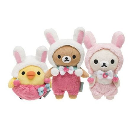 Teddy with bunny rabbit outfit