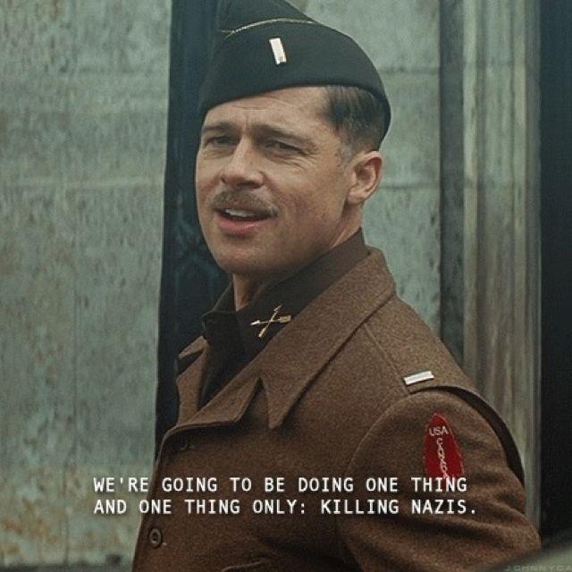 Inglorious Basterds: Love the Lieutenant! Aldo Raine