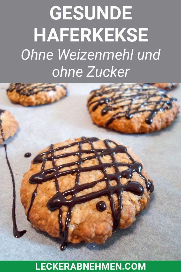 Gesunde Haferflockenkekse - Fitness Kekse zum Abnehmen - #abnehmen #fitness #gesunde #haferflockenke...