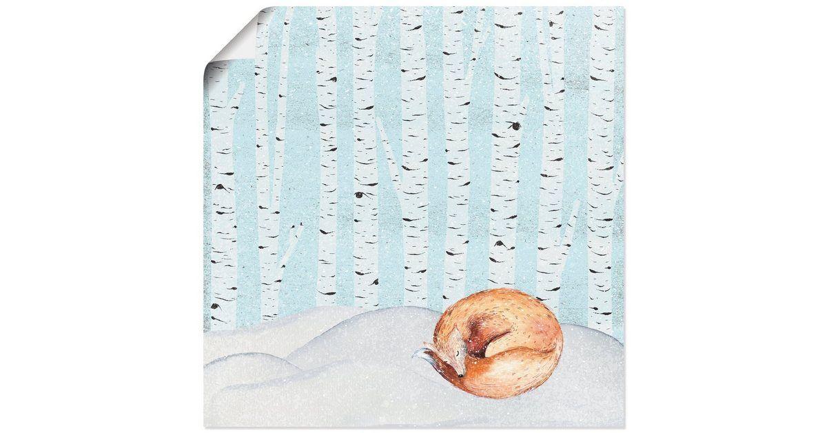 Photo of Artland Art Print Poster »UtArt: Winter Wonderland Sleeping Fox« OTTO