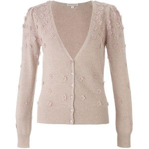 Monsoon Natural Belle Flower Cardigan