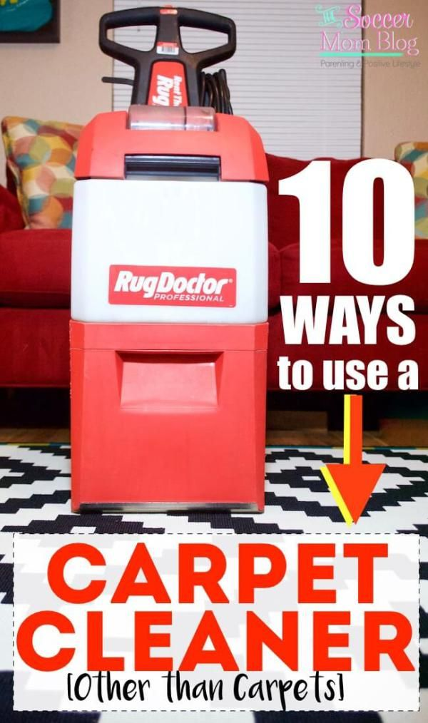 I had no idea that you could use a carpet cleaner on all of these things! I also had no idea just how dirty our house really was!