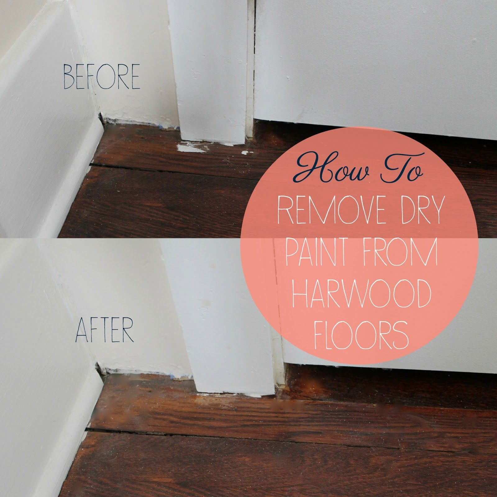 How To Remove Dry Paint From Hardwood Floors. Painted