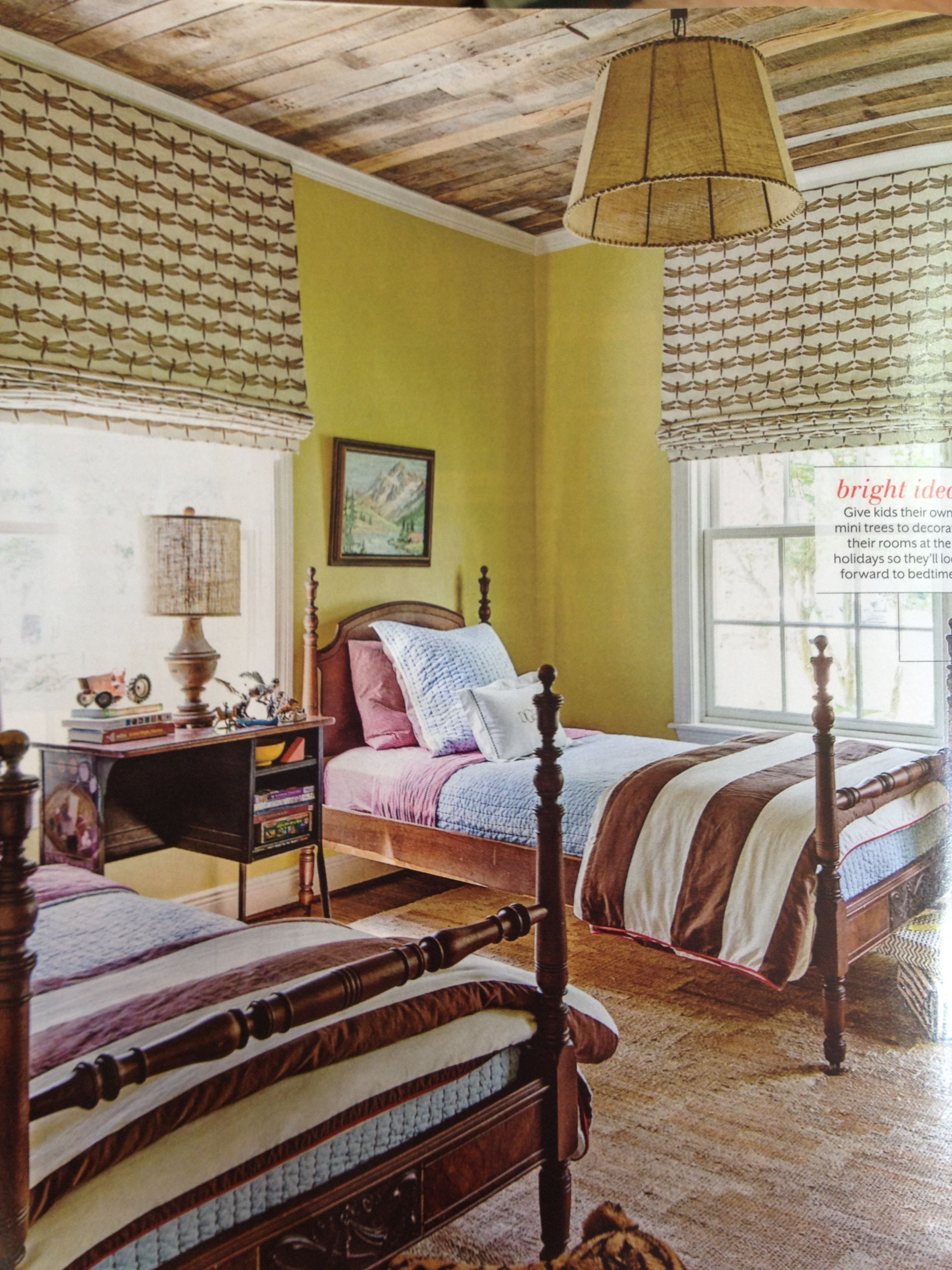 Wood ceiling  Home, Home decor, Bedroom colors