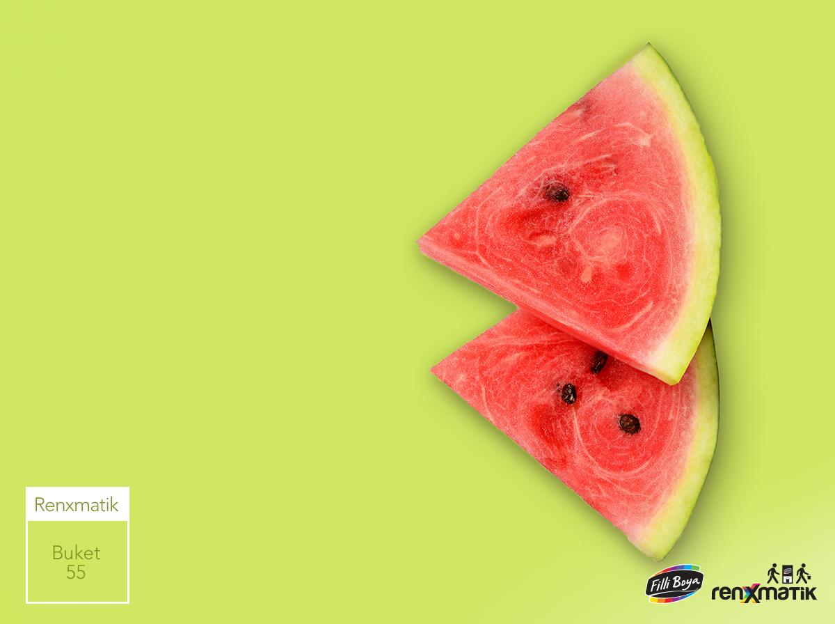 Karpuz Kabugu Coktan Denize Dustu Rengi De Duvarlarinizi Suslesin Isterseniz Onerimiz Buket 55 Watermelon Fruit Food