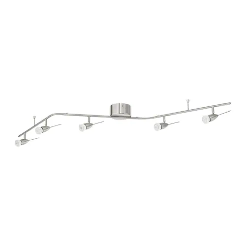 HUSINGE Ceiling track, 5 spots, nickel plated IKEA