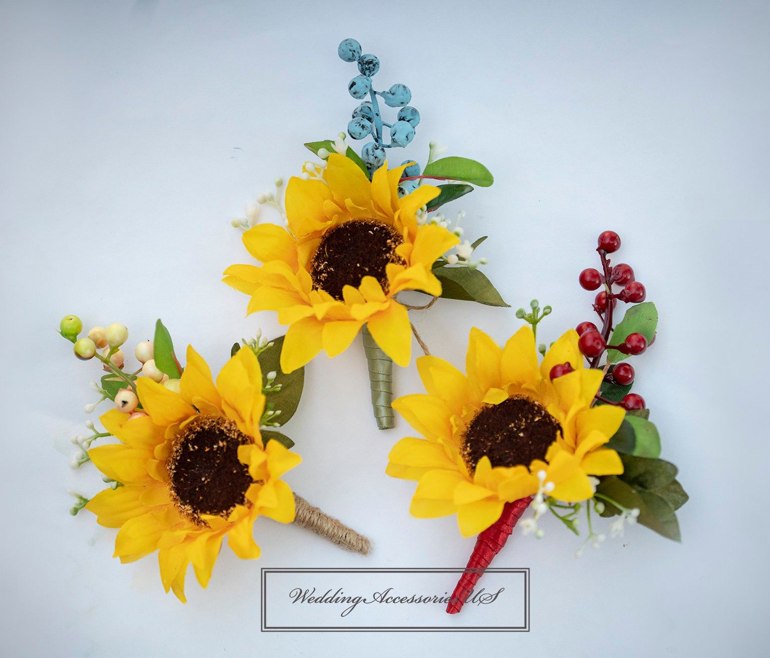 Sunflowers Boutonniere Fall Wedding Rustic Wedding Boho | Etsy