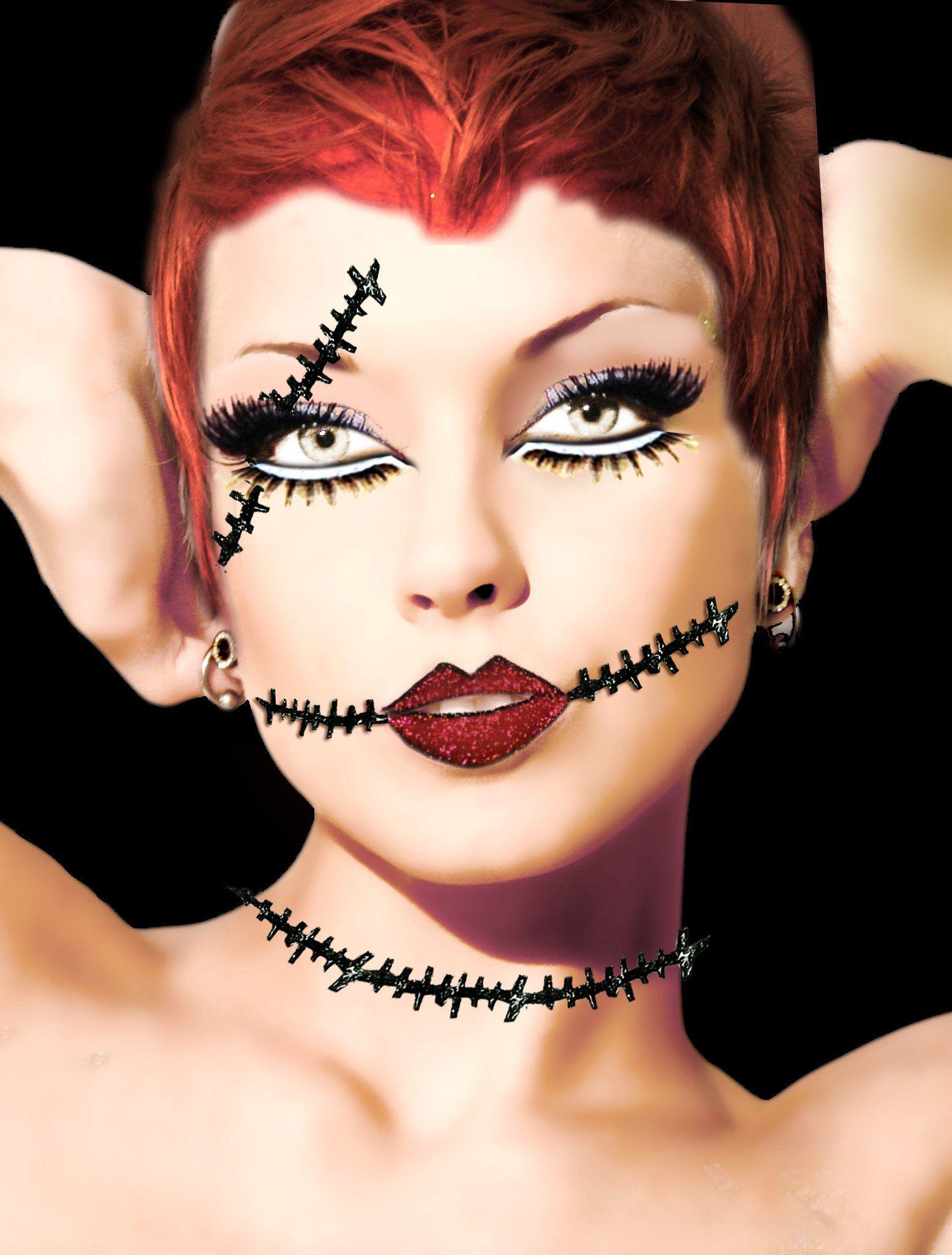 Xotic Eyes Corpse Lips and Scar SelfAdhesive Makeup
