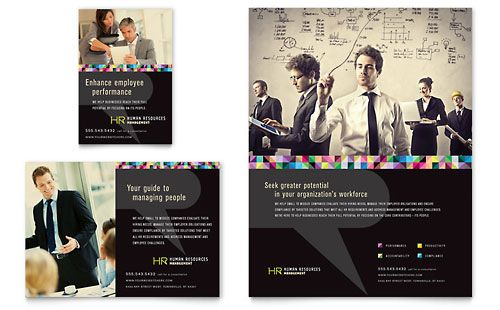Human Resource Management  Flyer  Ad Template  H