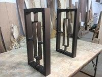29 Inch Tall Steel Table Leg Set Sofa Or Accent Table Legs