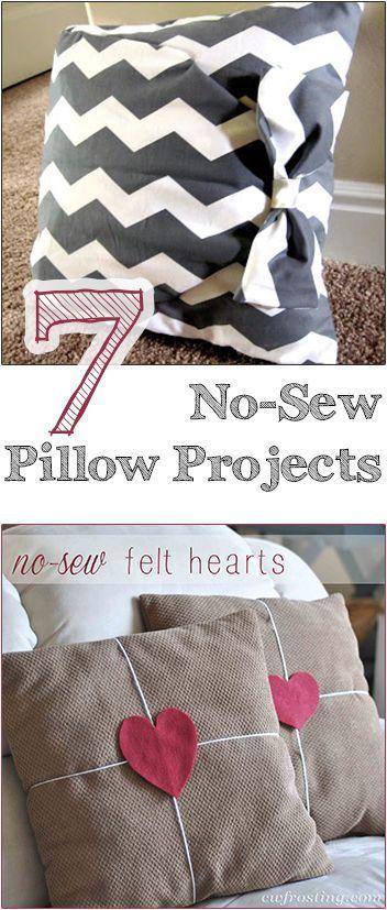 7 No-Sew Pillow Projects & 7 No-Sew Pillow Projects   Sew pillows Pillows and Tutorials pillowsntoast.com