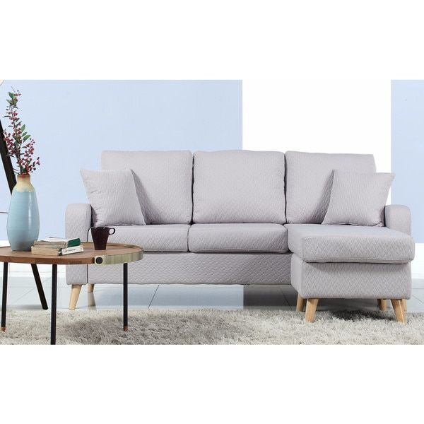 Madison Mid-Century Modern Small Space Sectional Sofa with ...