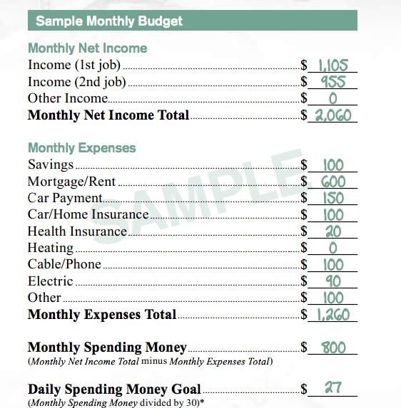 mcdonald s sample budget sheet is laughable but its implications