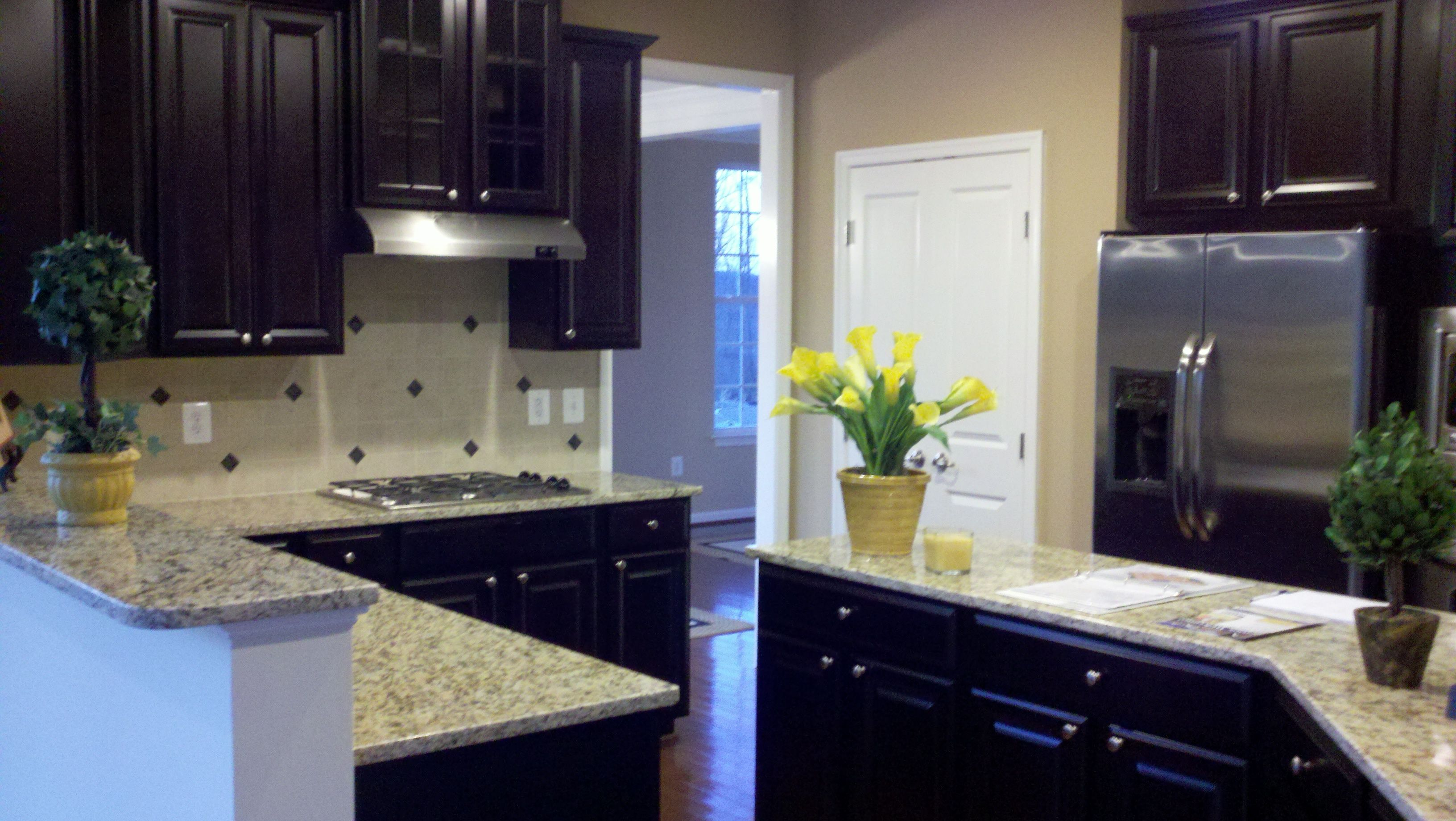 Kitchen Designers In Maryland Captivating Ryan Homes Model In Maryland With Espresso Cabinets  Kitchens Decorating Design