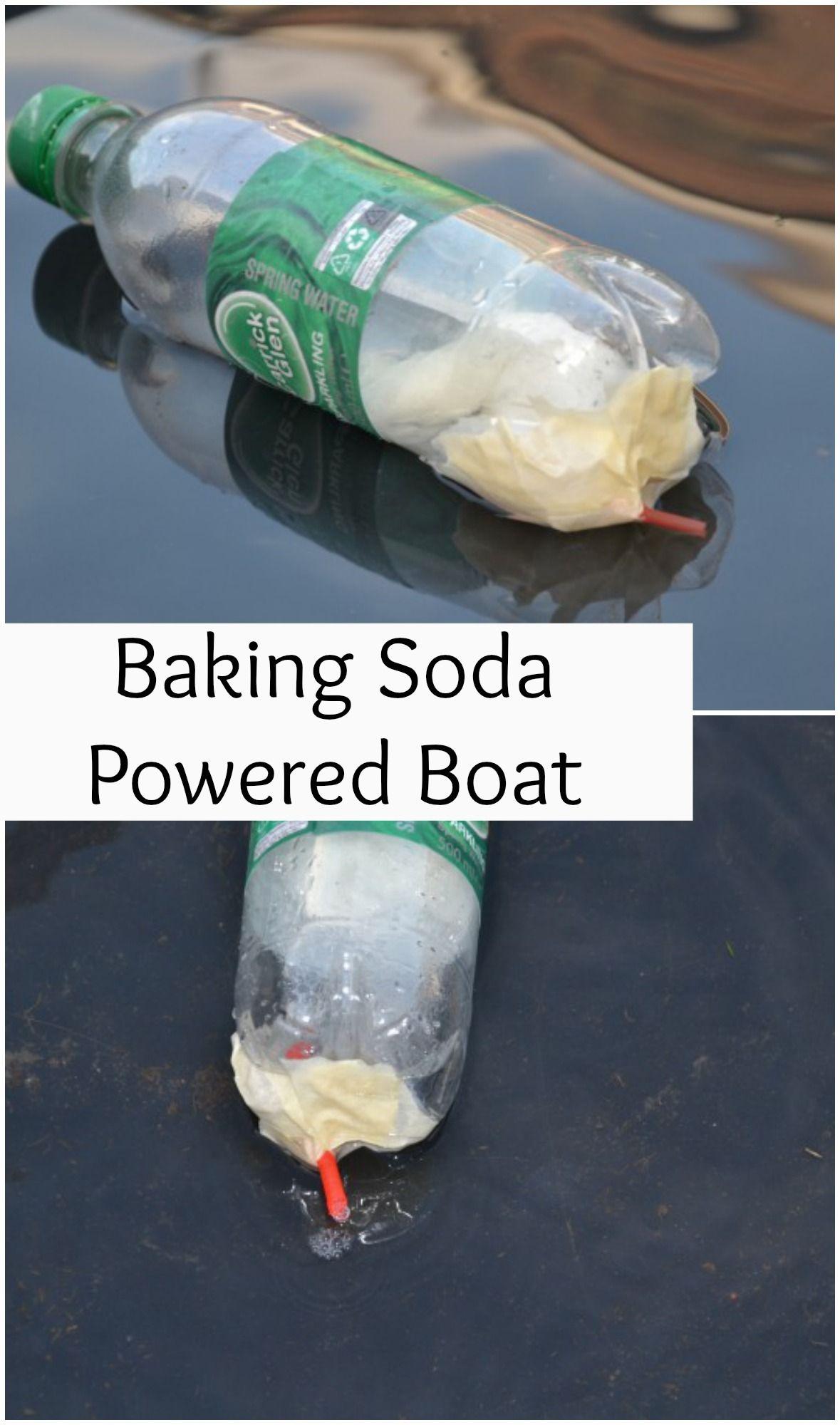 Make a baking soda powered boat #Science