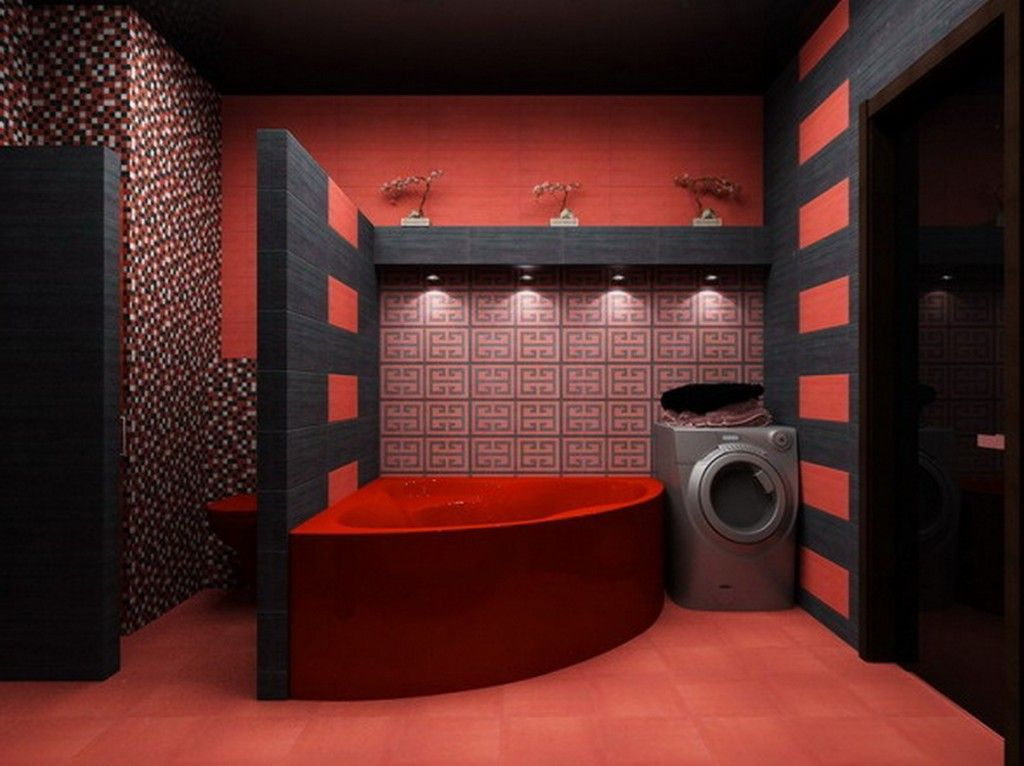 Bathroom Fascinating Chinese Bathroom Remodeling Ideas Also Red