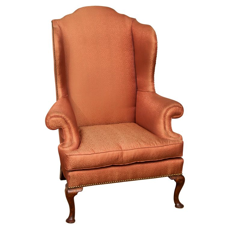 Queen anne wingback chairs   Queen Anne wing chair  Spurgeon Lewisqueen anne wingback chairs   Queen Anne wing chair  Spurgeon Lewis  . Antique Queen Anne Upholstered Chairs. Home Design Ideas