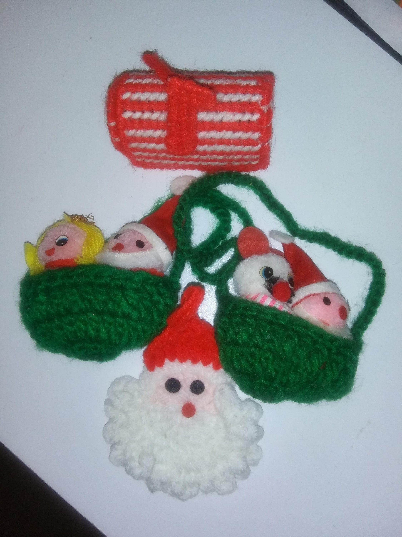Vintage Handmade Christmas Ornament Crochet Yarn Mailbox Etsy In 2020 Handmade Christmas Ornaments Christmas Ornaments Vintage Christmas Ornaments