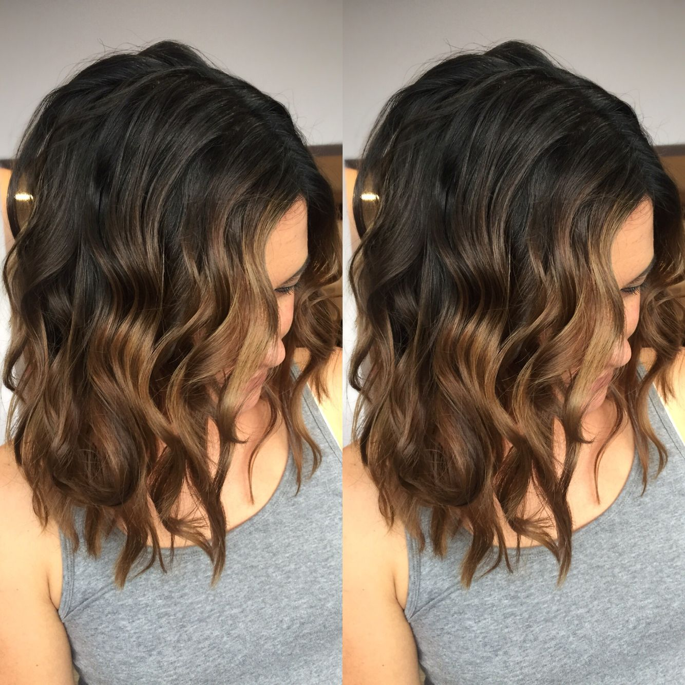 Dark Brown To Light Brown Balayage Short Ombre Hair Short Hair Ombre Brown Light Brown Balayage