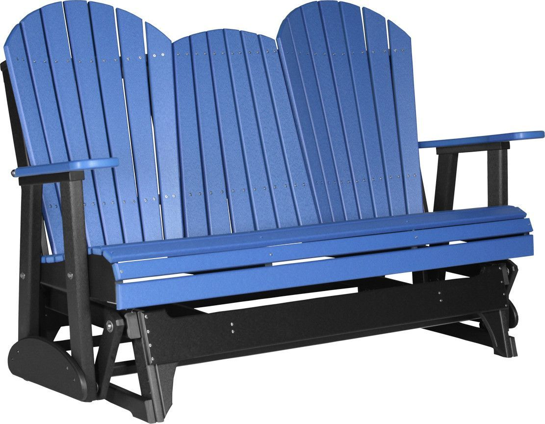 LuxCraft 5 Ft. Recycled Plastic Adirondack Outdoor Glider